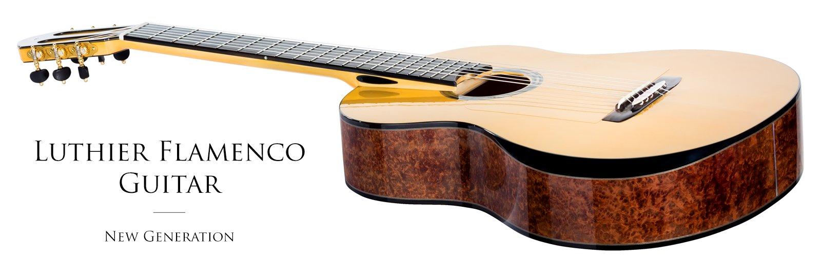 Luthier handmade flamenco guitar